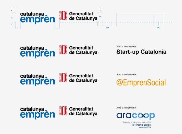 convivencia-altres-marques-diseno-de-libro-de-estilo-corporativo-y-branding-de-la-marca-paraguas-catalunya-empren-para-el-gobern-de-catalunya