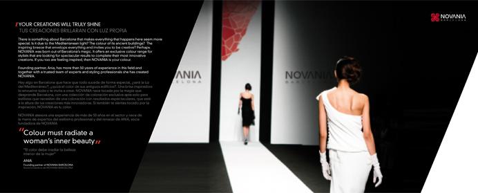 Diseño de packaging de cosmética natural para Novania Barcelona. Linea de de tratamientos y reparadores para el cabello