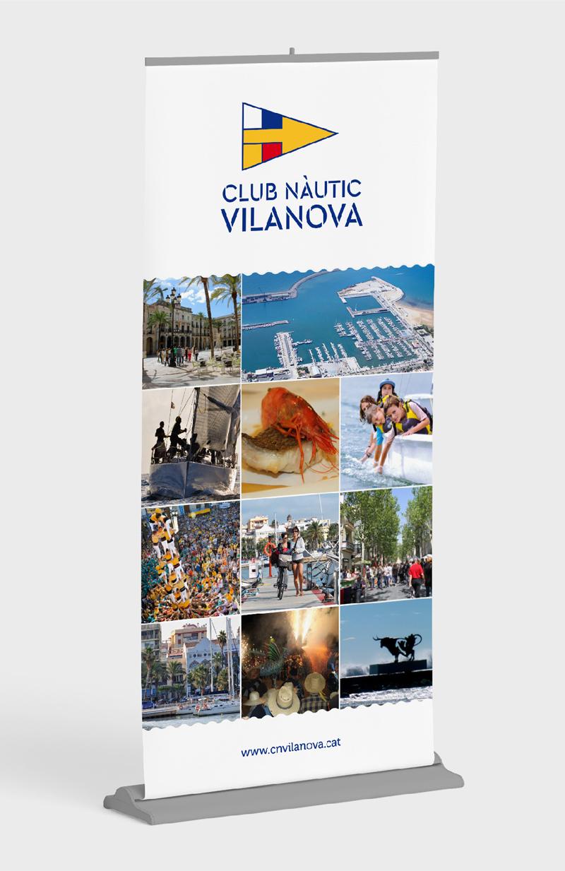 Rollup Diseño de identidad corporativa para el Club Nàutic Vinanova - Branding, rediseño de marca, imagen corporativa