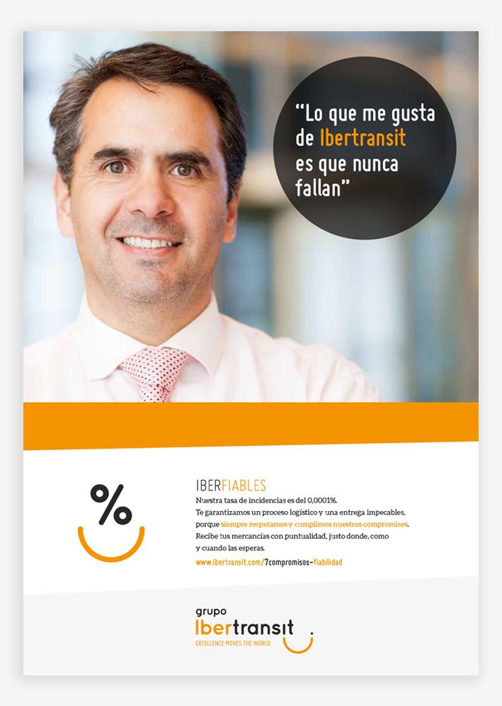 publicidad corporativa para la empresa Grupo Ibertransit, comunica mensajes orientados a posicionar estratégicamente la marca