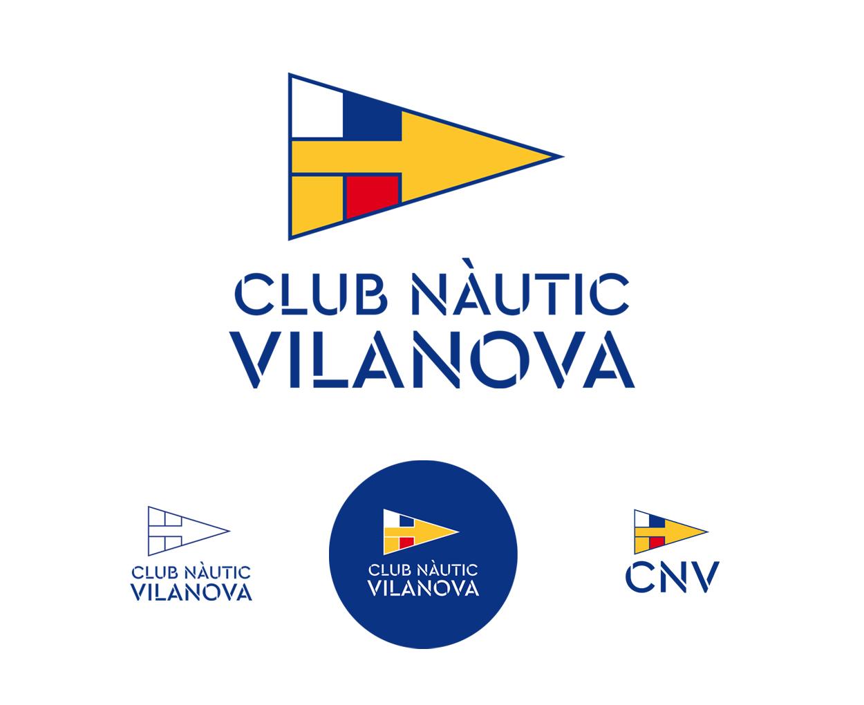 Diseño de logotipo e identidad corporativa para el Club Nàutic Vilanova