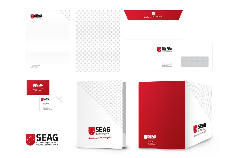 Imagen corporativa de la compañía de seguros de inmuebles SEAG