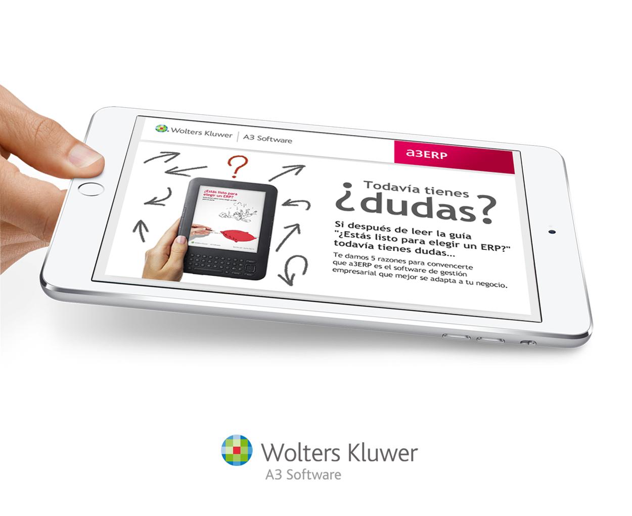 insistencia - emailing - emailing- Diseño de la guía para elegir ERP y campaña de publicidad para promocionar la solución de A3 Software de Wolters Kluwer