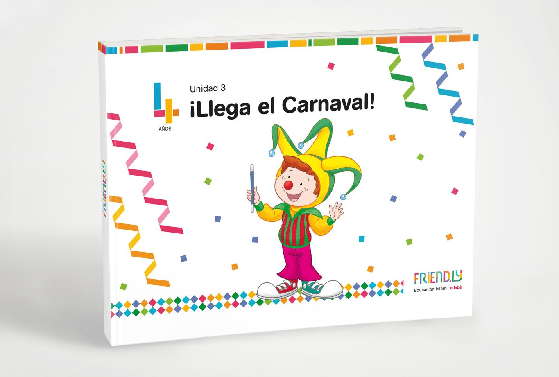 Publicidad para la editorial edebe proyecto friendly - Branding colección de cubiertas para los libros - LLega carnaval