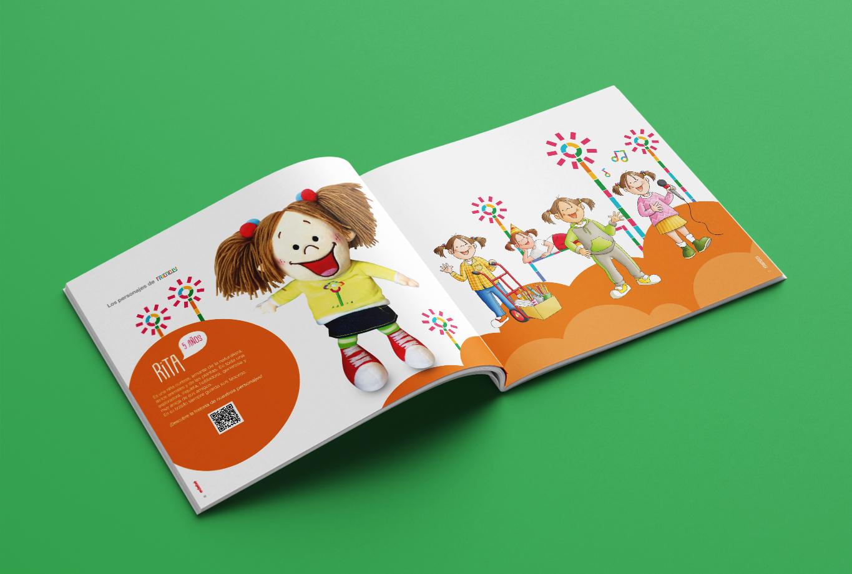 Campaña de publicidad para la editorial edebé - Branding proyecto Friendly - Catálogo Rita