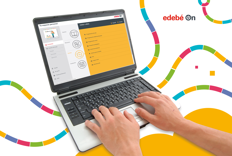 Publicidad para la editorial edebe proyecto friendly - edebe-on ordenador