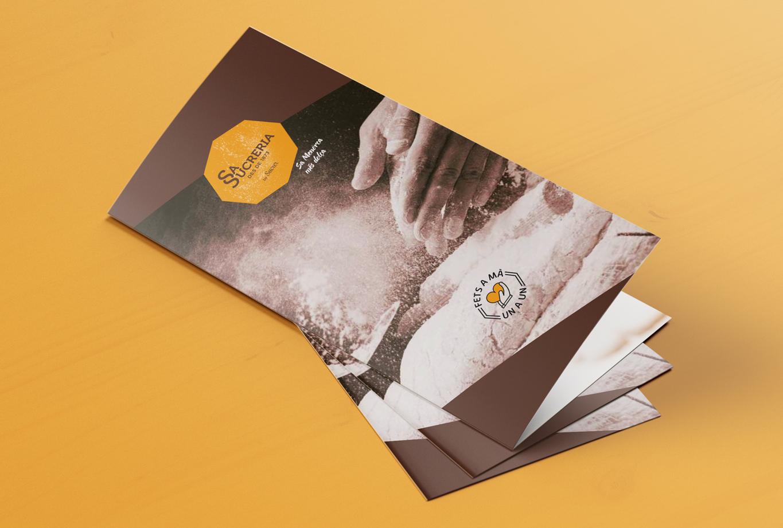 Branding, identidad de marca e imagen de producto para los dulces tradicionales de Sa Sucreria - Comunicación - portada folleto