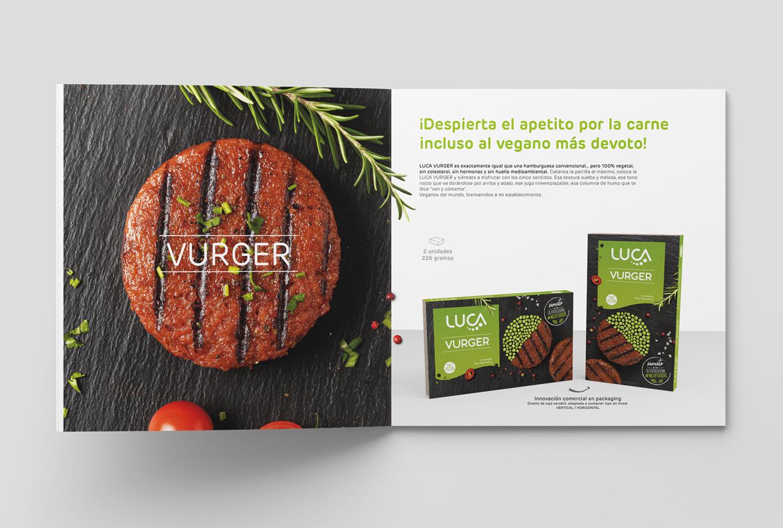 Comunicación para la marca de carne vegetal dirigida al sector gran consumo retail