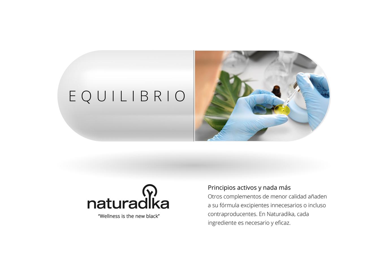 comunicación de la marca de complementos alimenticios y nutricosmética naturadika - equilibrio