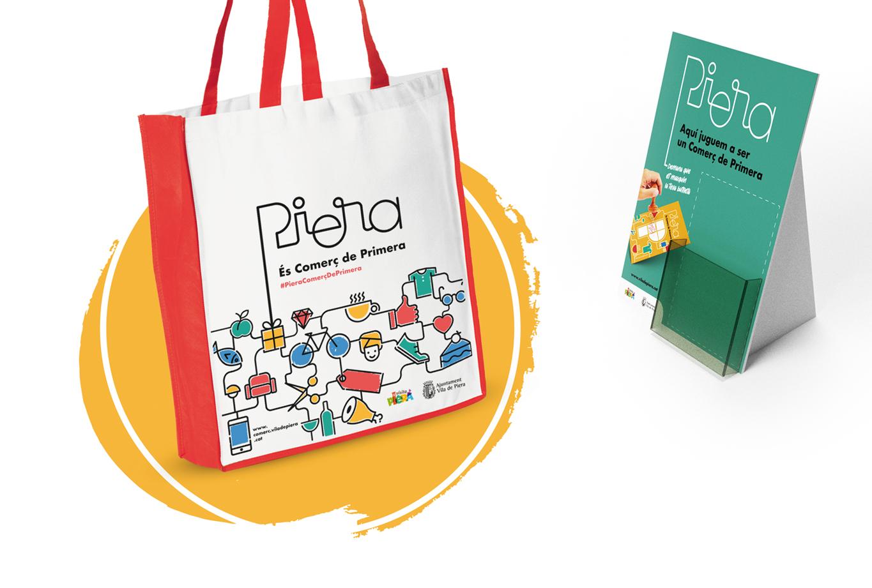 Campanya de publicitat per promocionar el comerç de proximitat - Vila de Piera - Regal bossa promoció
