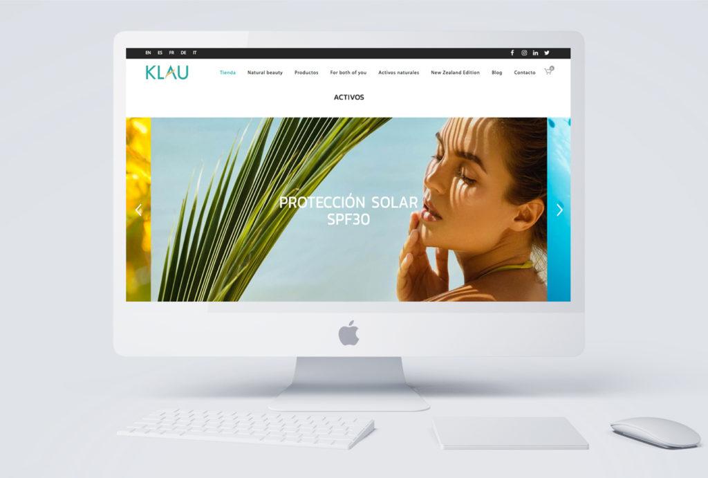 Posicionamiento de marca y branding para cosmética natural de Klau