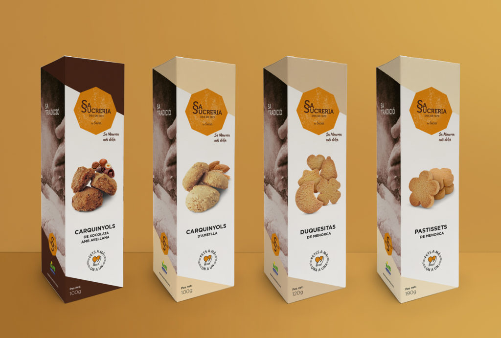 Creación de la identidad corporativa para los dulces tradicionales de Sa Sucreria