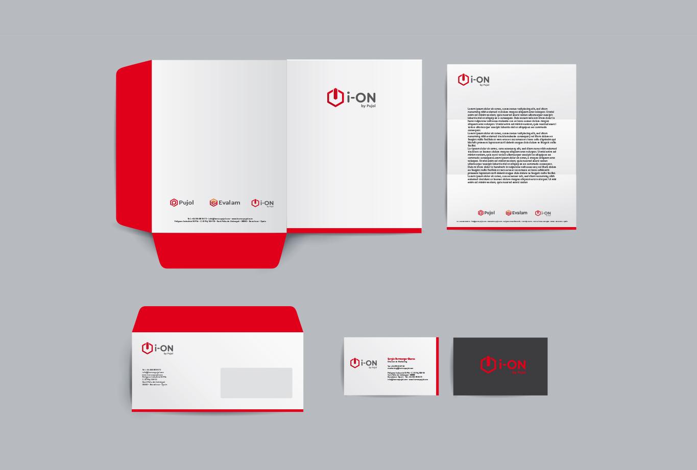 Diseño de los logotipos del grupo industrial Hornos Pujol - Identidad corporativa - Ion